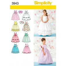 Child Special Occasion Dresses Fabric Sewing Patterns 3943