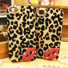 2014 New Leopard Red Lip Hard Case Cover Skin For Samsung Note 2  3 IPhone 4 5