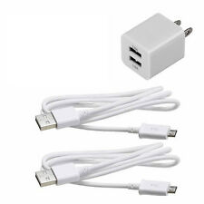 2.1 AMP Rapid Home Wall Travel Charger + 2 x 5 FT OEM USB Cable for all carrier