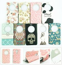 New Flip Window Display View PU Leather Case Stand For LG Optimus G3 D855 D850