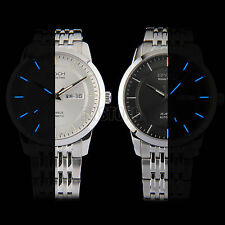 Automatic Seagull Mechanical Date Mens Swiss Tritium Glow Watch Stainless Steel