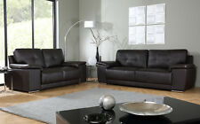KANSAS Brown Leather 2 3 Seater Sofas Range