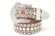 WESTERN COWGIRL RHINESTONE  FASHION STUDDED BELT BW50118 BROWN
