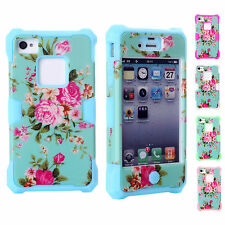 BIG SALE ~ Fashion Floral Silicon Skin Case Cover Housing For Apple iPhone 4/4S