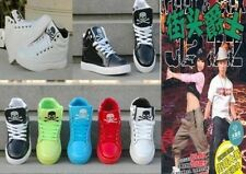 New Patent leather high-top men and women Hip-hop Ghost step dance Casual shoes