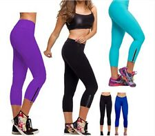 Women Slim Athletic Workout Hot Pants Yoga Pants Leggings Tight Zipper pants LD