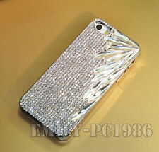 Bling Bling Bamboo Leaf Swarovski Element Crystal Cover Case For iPhone 5/5S/4S