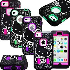 Hello Kitty Cute Case for iPhone 5 5S 5C SE 6 6S Plus Shockproof Strong Cover