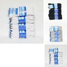 12 Pairs Diabetic Socks Size 9-11 10-13 White Black Ankle Crew Cushioned Mens
