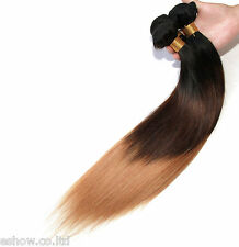 2Bundles Unprocessed BRAZILIAN Human Hair Extensions Straight 1B/33/27#in stock