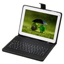 """10"""" Android 4.2 Tablet PC 10.1"""" Dual Core 8G/1G DDR3 Bundle Black Keyboard Case"""