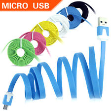 1M Micro USB Flat Noodle Data Sync Charger Cable For Samsung Galaxy S3 S4 Note 4