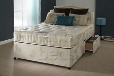 2ft6 Small SINGLE DIVAN BED, OPTIONS available with ORTHOPAEDIC MATTRESS