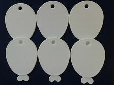 White Plastic Balloon Shaped Weights for Foil Helium Balloons