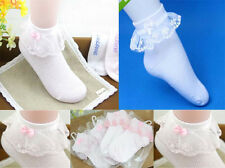 Soft 1-12 years Baby Pure Kid Toddlers Girls Anklet Lace Bow Cuff Socks MC2183