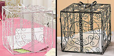Metal Gift Box w/ Bow Card Holder Wedding Wishing Well Reception Money Box