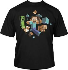 MINECRAFT RUN AWAY GLOW IN THE DARK T-SHIRTS YOUTH TEE OFFICIALLY LICENSED YS-YM