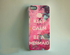 Keep Calm And Be A Mermaid iPhone Case Cover 5S-5-4S-4 Carry On Coral Nautical