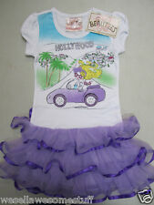 BEAUTEES Tutu DRESS Sizes 2T HOLLYWOOD Purple CONVERTIBLE Palm Trees NEW w/TAG