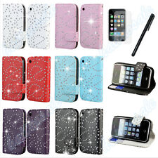 New Flip Wallet Leather Case Cover For Apple iPhone 5S 3GS Free Screen Protector