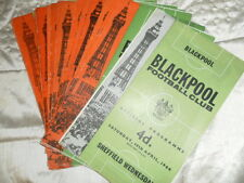 BLACKPOOL HOME PROGRAMMES FROM 1963/4 - CHOOSE FROM LIST