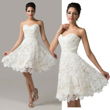 2014 Lace Bridesmaid Wedding Formal Party Dresses Graduation Cocktail Prom Dress