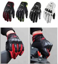 Motorcycle Motorbike Motocross Racing Riding ATV Full Finger Carbon Fiber Gloves