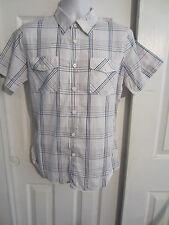 HOT TOPIC SHOUT HOUSE WHITE MULTI-COLORED PLAID SHIRT  DIFFERENT SIZES