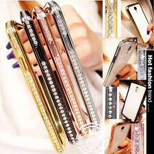 CRYSTAL RHINESTONE DIAMOND BLING METAL BUMPER CASE COVER FOR S3 S4 S5 & NOTE 3 4