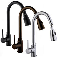"""16"""" Pull Down Spray Swivel Kitchen & Bar Sink Faucet - One Hole / Handle"""