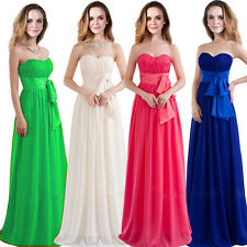 1 Wedding Bridesmaid Model Cocktail Prom Bow Belted Gowns Formal Evening Dress