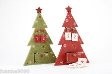 WOODEN CHRISTMAS ADVENT COUNTDOWN CALENDAR NUMBER TREE FESTIVE HOME DECORATION