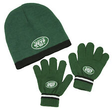 New York Jets NFL Football Kids Knit Hat and Gloves Set - Green (Kids 4-7)