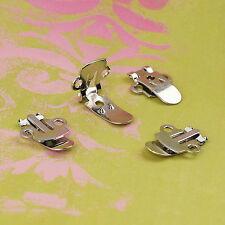 Shoe Clips Silver Hardware Blanks/Metal Findings/Cover Buttons - Ships from USA