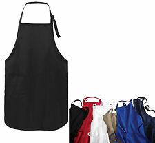 APRON, FULL LENGTH, EASY CARE, WRINKLE & STAIN RESISTANT, 3 POCKETS, ADJUSTABLE