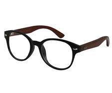 Ebe Horn Rim Classic In Black With Hard Wood Temples