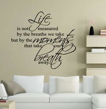 is not life measured  Wall Sticker Quote decal Removable sticker decor Vinyl art