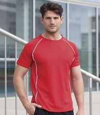 Finden & Hales Mens Sports Performance T-Shirt Mans Wicking Short Sleeve Top New