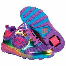 Heelys Race Purple Rainbow Roller Shoes Skating Shoes + Free DVD