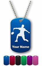 Personalized Military ID Dog Tag with Chain - BADMINTON PLAYER