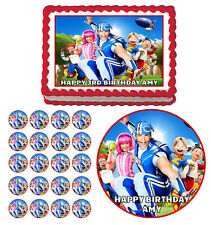 LAZY TOWN Edible Cake Topper Cupcake Image Birthday Decoration