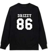 Kings of NY Drizzy Team 86 Crewneck Sweatshirt Drake Trophies Worst Ovo Black CA