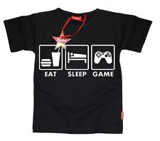 KIDS MENS TEENAGER BOYS - Red Dead Redemption -  EAT SLEEP GAME T-SHIRT (BLACK)