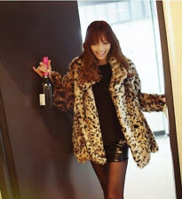 Winter Warm Sexy Fashion Tiger Leopard Print Faux Fur Coat Jacket