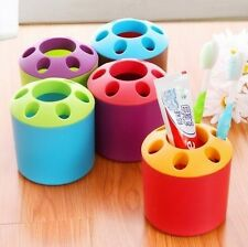 New Multicolor Toothbrush Toothpaste Holder Cup Glass Pot Pen Holder Container