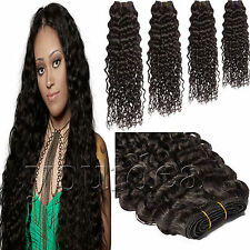 Curly Wave Weft Virgin Brazilian 100% Remy Human Hair 100G  #1B Natural Black