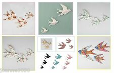 RETRO 3 FLYING SWALLOWS BIRDS WALL ART FOLK HOME DECOR VTG QUIRKY VINTAGE GIFT