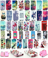 Fashion flip print wallet PU stand case cover for SAMSUNG Trend plus S7580 7582