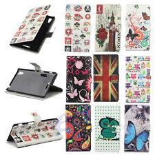 Hot Sale For Sony Xperia T3 M50W Flip Leather Hard Wallet Card Clip Case Cover