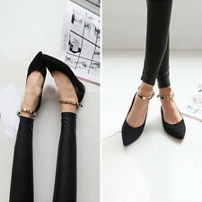 2014 New spring Fashionshallow mouth pointed low help shoes flat chain Lady  CA